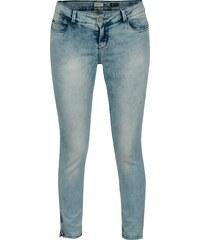 5b3a9afc80d Modré dámské skinny džíny s vyšisovaným efektem Cars Tippa