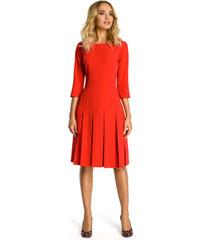 94ff859c578a Perfect Dámské šaty s 3 4 rukávem a skládanou sukní po kolena