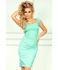 6c54d766416 Dámské elegantní společenské šaty bez rukávu světle mentolové NUMOCO 53-1A