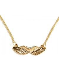 ZOYO Náhrdelník andělská křídla - zlatý odstín