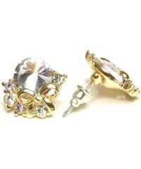 ZOYO Náušnice světle fialový kamínek - zlaté
