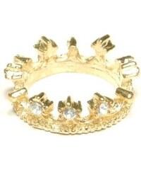 ZOYO Prsten koruna - zlatý