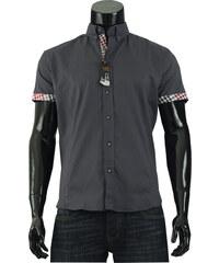 Pánská košile s krátkým rukávem Tim Rody - tmavě šedá