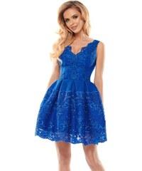 Tmavě modré šaty s krajkou bez rukávů - Glami.cz a7080ee1d5