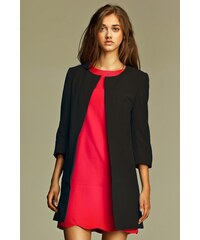 Dlouhé dámské sako přes šaty NIFE (vel.38,40,44 skladem) 36 černá