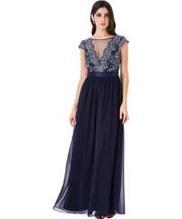 beb33deadb9 CITYGODDESS Dlouhé společenské šaty Mamon modré