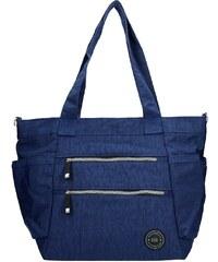 a88565c7c1 Dámska kabelka New Rebels Crincle Shopper - modrá