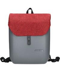 Dámský trendy batoh Ju sto J-Back - šedo-červená b2ef4ec71f7