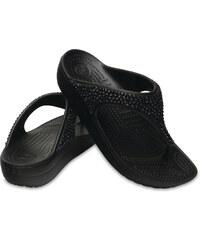 Crocs černé žabky na klínku Sloane Embellished Flip Black 664236785d