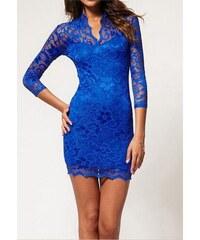 46333dbdc29 Dámské krajkové Šaty Modré - modrá