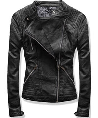 Dámská kožená bunda Herba černá - černá 23750e5d6e7