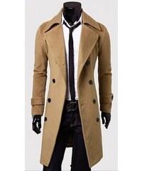 Pánský dlouhý kabát Libero béžový - béžová 38e411683bd