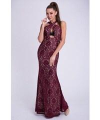 EMAMODA Dámské šaty Emamoda Alic červené - MAROON a437875a70