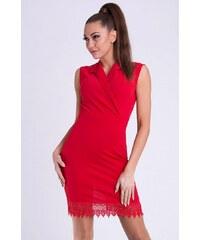 EMAMODA Dámské šaty Emamoda Voliana červené - červená 27565b2825