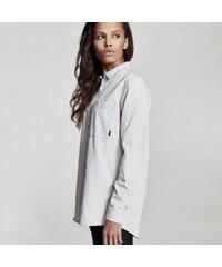 7eee216fc301 MAKIA Šedá košeľa s dlhým rukávom Strand Shirt S