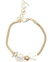 0fda776a62 GUESS náramok Gold-Tone Snake Chain Charm Bracelet