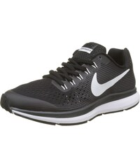 Nike Damen W Air Zoom Pegasus 34 Flyease Traillaufschuhe, Schwarz (Black/White/Dark Grey/Anthracite 001), 42.5 EU