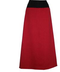 Radka Kudrnová Červená dlouhá sukně b15acb3cb5