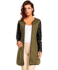 Dámský olivový kabát Best Emilie - černá 1ba3ccfb89