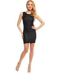 Dámské krátké krajkové šaty Miliana - černá fe03cd4a7f