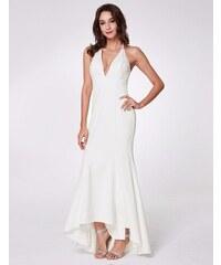 Ever-Pretty Bílé šaty za krk s holými zády 513988bbfa