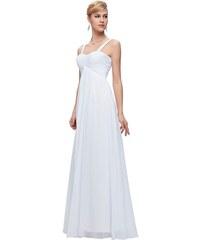 Bílé šifonové šaty pro družičky - Glami.cz e6bc61b661
