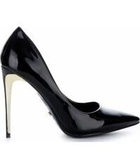 c8af6433c7 Ideal Shoes Elegantní lakované dámské lodičky černé