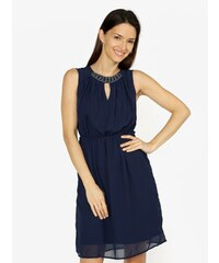 524929b51d04 Tmavomodré šaty s korálkovou výšivkou VERO MODA Wam