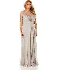 Szürke StarShinerS harang alakú alkalmi ruha szivacsos mellrész ... e701d0026d