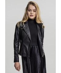 Dámska prechodná bunda Urban Classics Ladies Leather Imitation Biker Jacket  čierna 465d77ce752