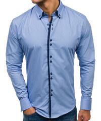 6d9e964e049b Blankytná pánska elegantná košeľa s dlhými rukávmi BOLF 1721-1