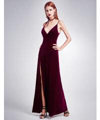 Ever Pretty sametové červené šaty 7181 91bfd7b3df