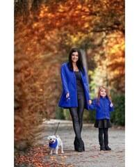 Doprava zadarmo Doručenie do Vianoc · Dámský kabát bez límce královsky  modrý 38e7b130d4d