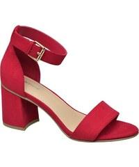 bdf091ff5c Červené Dámske sandále z obchodu Deichmann.sk