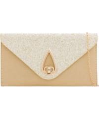 ikabelky Spoločenská kabelka s trblietkami K-Y2203 zlatá df3e360f8c7