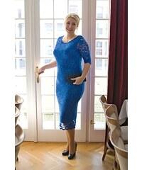 Bellazu GB Krajkové šaty Adlib pouzdrového střihu modré bb55779ef2