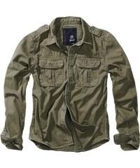 ded4a9c9da3 Brandit Košile Vintage Shirt Longsleeve olivová