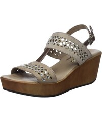 23628, Sandales Bout Ouvert Femme, Beige (Taupe 10), 36 EU24 Horas