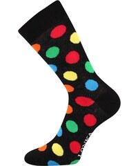 0eacc803d0c Lonka Černé pánské ponožky s barevnými puntíky