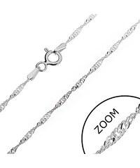 362e6db4f Šperky eshop - Strieborná retiazka 925 - trblietavá špirála z plochých  očiek, 1,3