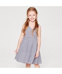 0824c8559cd Mohito - Dívčí kostkované šaty Little Princess - Bílá