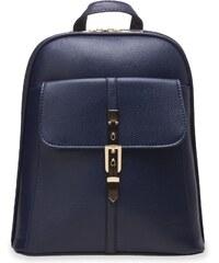 World-Style.cz Elegantní dámský batoh s ozdobnou přezkou zpevněný - tmavě  modrý cb4df4784a