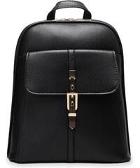 World-Style.cz Elegantní dámský batoh s ozdobnou přezkou zpevněný černý 52e28e0012