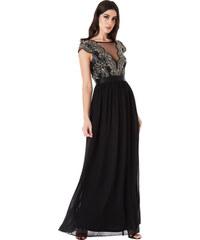 CITYGODDESS Dlouhé společenské šaty Mamon černé 39cfb24dc7