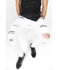 f2a98ad2d10 Behype Pánské roztrhané džíny JN-3296. V 8 velikostech. Detail produktu.  Sixth June Ripped Jeans White Destroyed Checkerboard