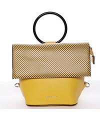 Originálna a unikátna žltá kabelka batôžtek - Silvia Rosa Marmara žltá ede1b57847b