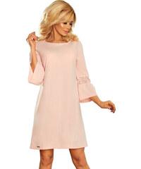 NUMOCO Pastelové šaty so zdobenými rukávmi 190-1 4e76fa11467