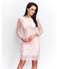 Růžové šaty s krajkou z obchodu BellaBoutique.cz - Glami.cz 986dc0c3a9