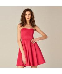 da2866bfe87 Mohito - Rozšířené šaty bez ramínek - Růžová