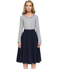 eded076b88fb Style Tmavomodrá sukňa S006